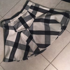 Wool plaid skirt